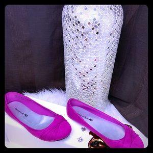 American eagle shoes flat color purple